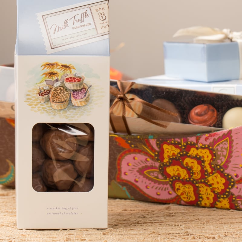 Make-Your-Own: Gourmet Gift Basket (Hand-Rolled Truffles) - Ghyslain Chocolatier