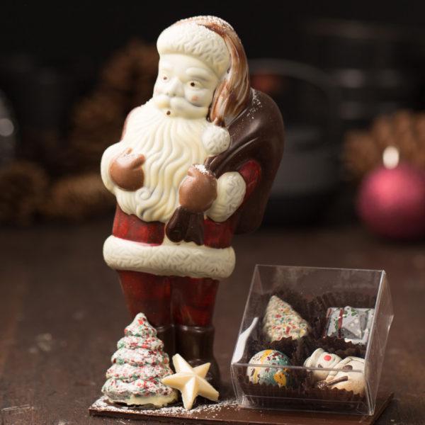 Chocolate Santa Sculpture