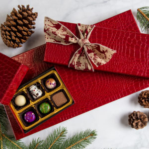 Red Croc Illusion Holiday Chocolate Gift Box