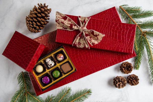 Red Croc Illusion Holiday Chocolate Gift Box