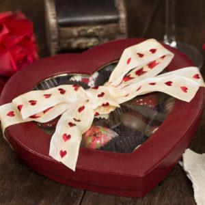 2018 Valentine's Day Window Heart Box Leather