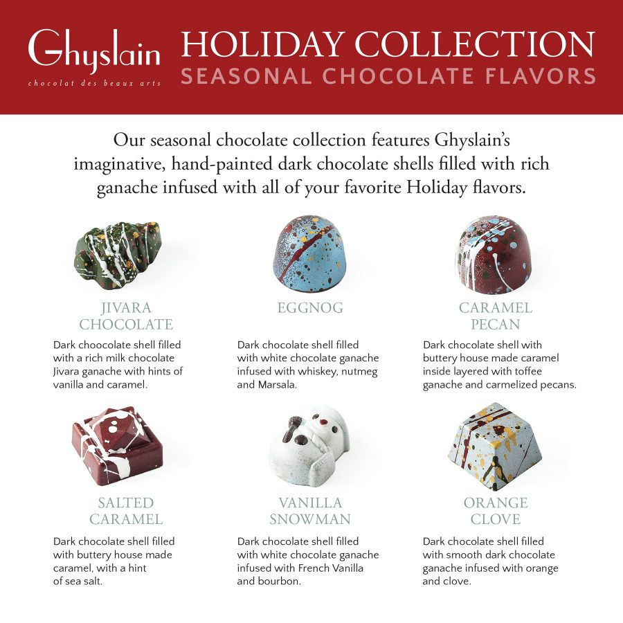 Ghyslain Holiday Collection Flavors