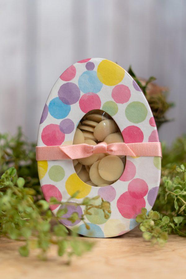 Watercolor Polka Dot Egg Box White Chocolate Pistols