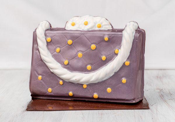 Purple Daisy Purse Chocolate Sculpture