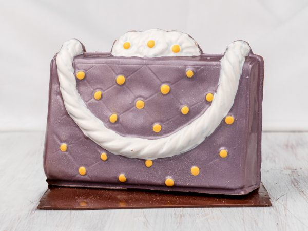 Purple Daisy Purse Chocolate Sculpture