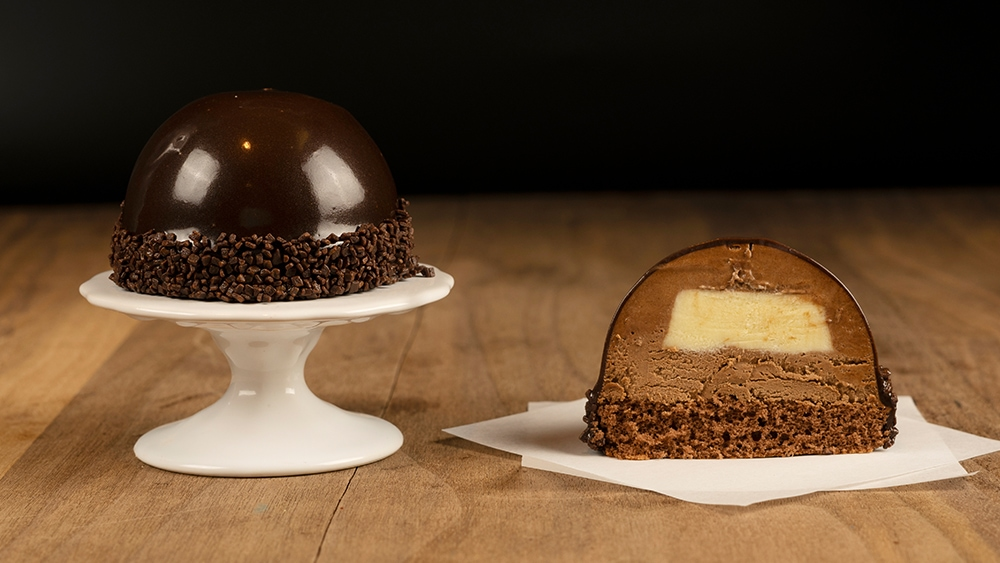 Undecorated Bourbon Bombe
