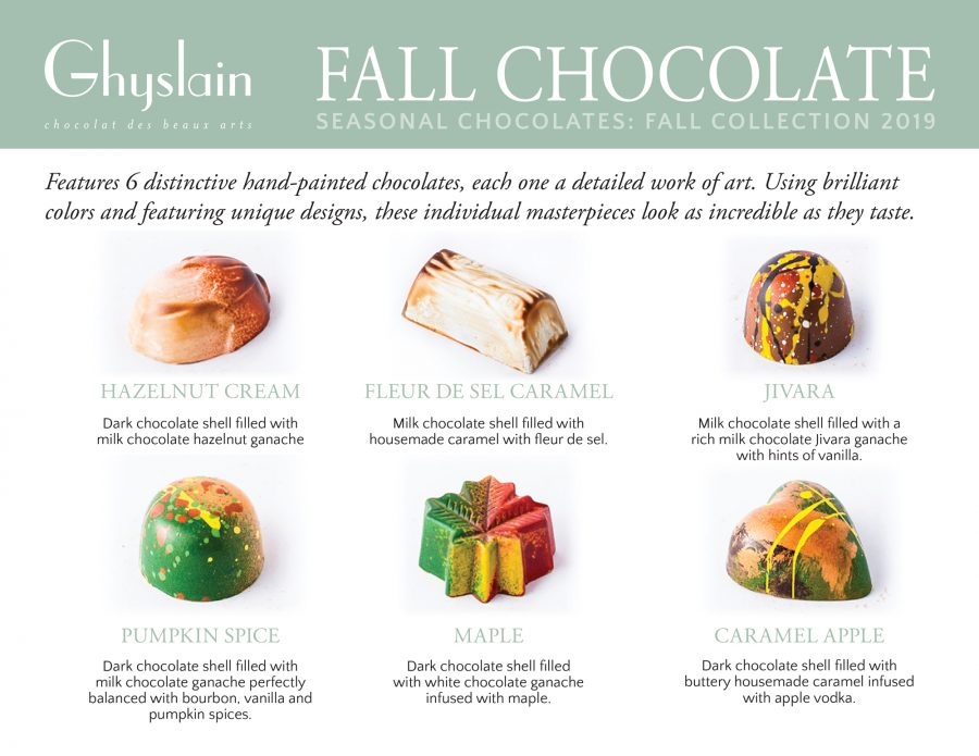 Ghyslain Fall Chocolate Collection Flavors