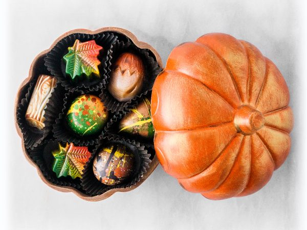 Chocolate Pumpkin Sculpture