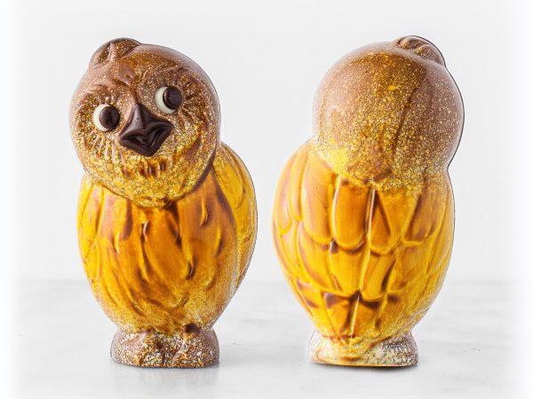 Chocolate Owl Sculpture