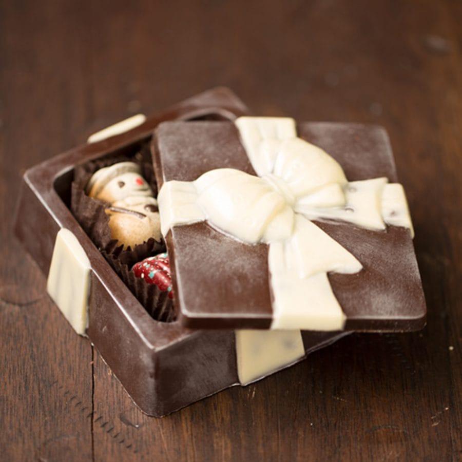 Ghyslain Holiday Dark Chocolate Box Sculpture