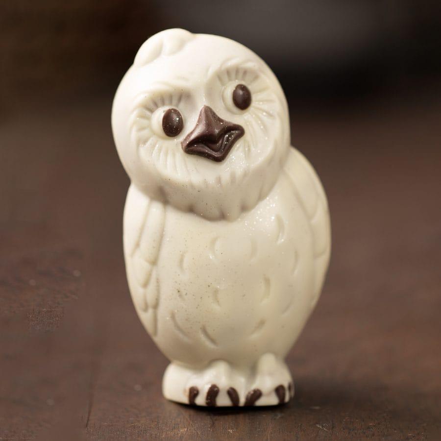 Ghyslain Holiday Owl Chocolate Sculpture