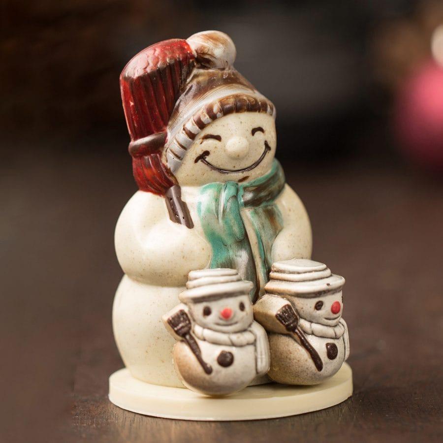 Petite Chocolate Snowman