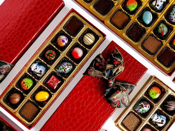 Ghyslain Gourmet Chocolates - Red Croc Illusion Collection