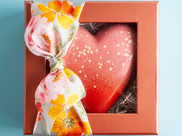 Blush Chocolate Heart Box