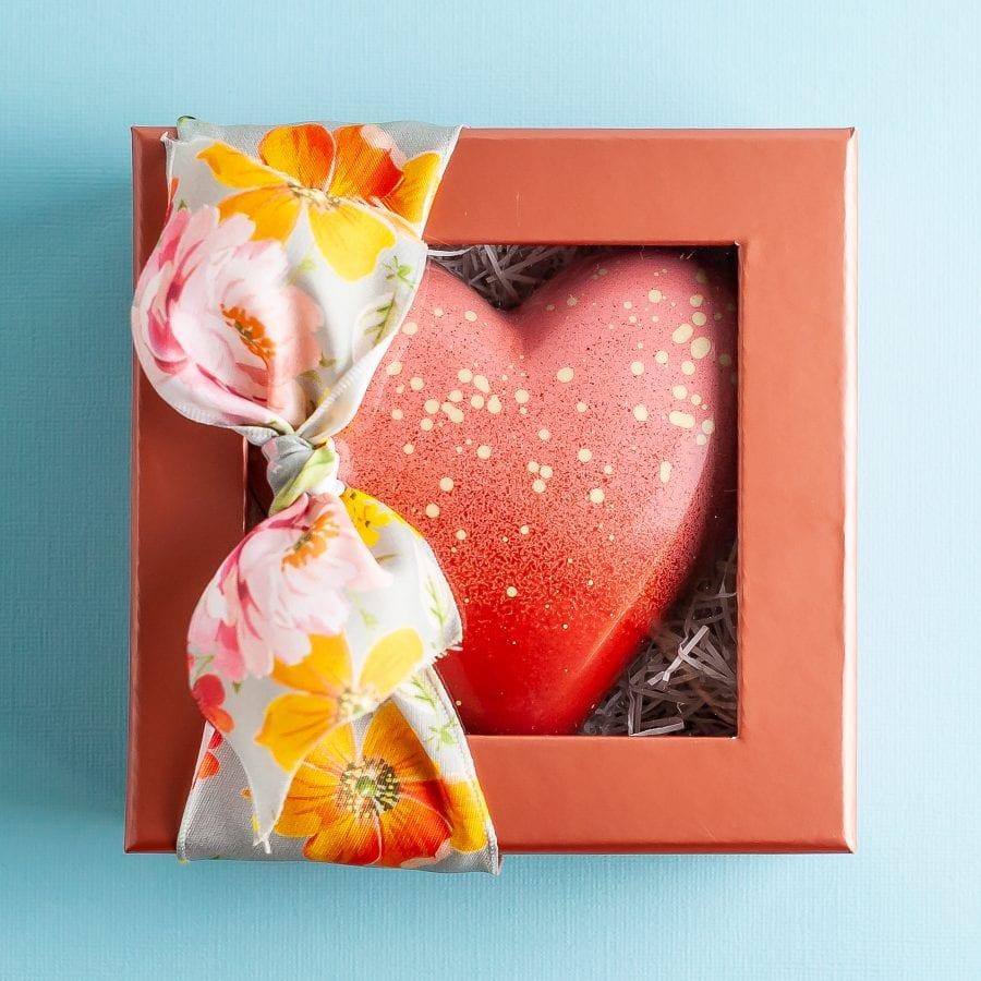 Blush Chocolate Heart Box
