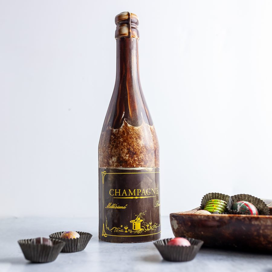 Grand Chocolate Champagne Bottle