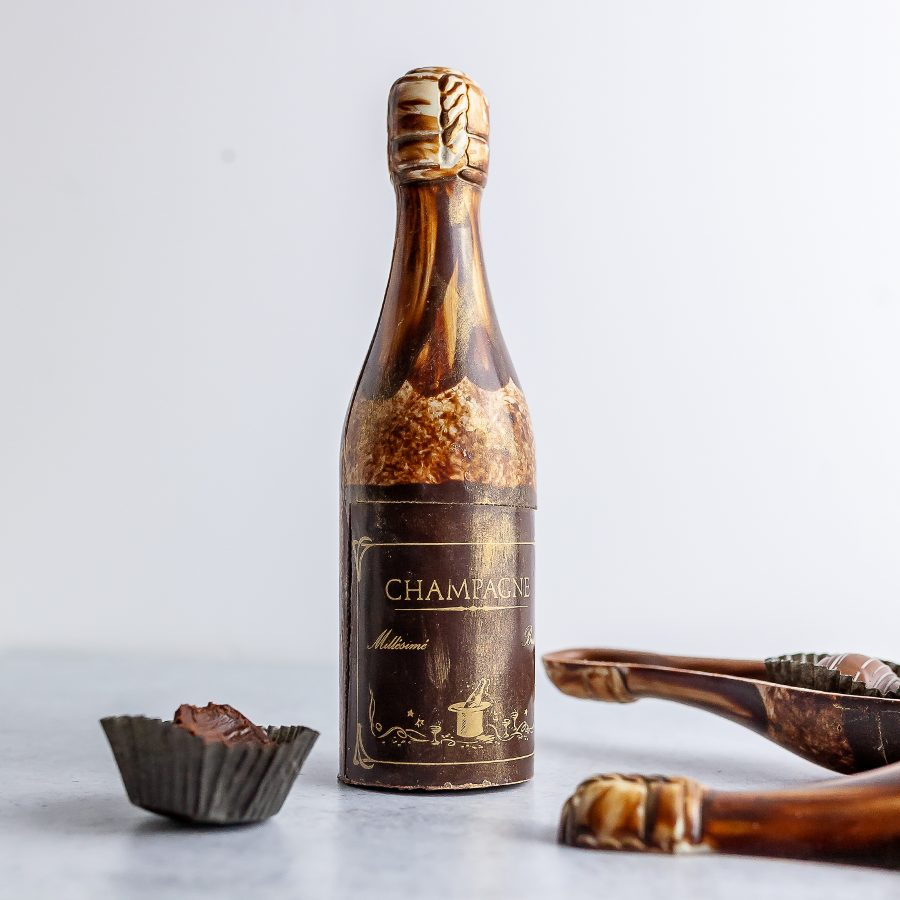 Petite Chocolate Champagne Bottle