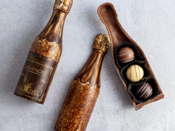 Petite Chocolate Champagne Bottle